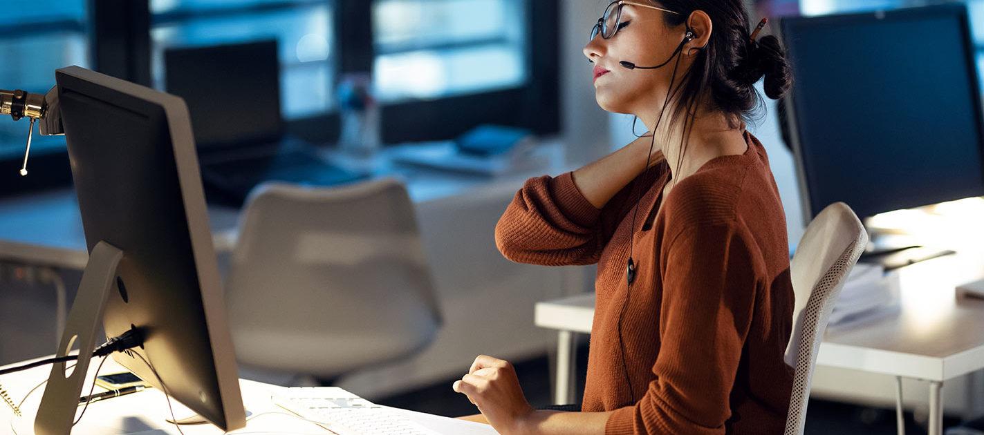 Higiene postural trabajo de oficina | Clínica VegaSalud